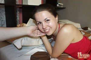 18 year old cutie swallows jizz after pov sex with her boyfriend