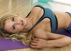 Cute mom Alix Lynx and Elsa Jean are getting pounded after a nice workout