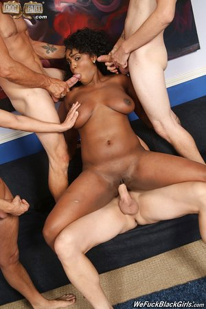 Black woman Layton Benton gets gangbanged while inspecting a construction site
