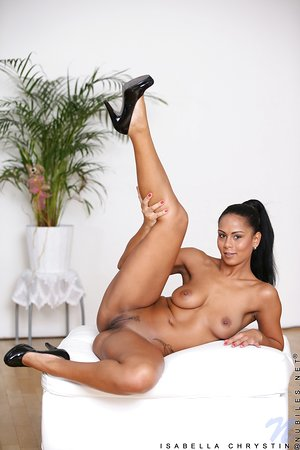 Leggy solo girl Isabella Chrystin stretches her ass after a striptease