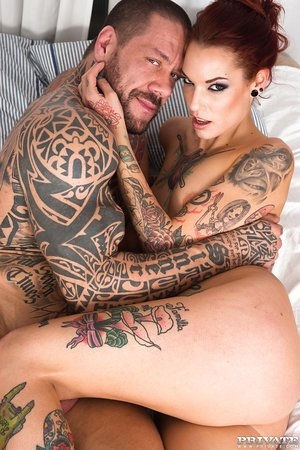 Ink queens Silvia Rubi & Luna Rival hookup for a threesome