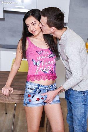 Hot girlfriend Shrima Malati gets drilled hard on the kitchen table
