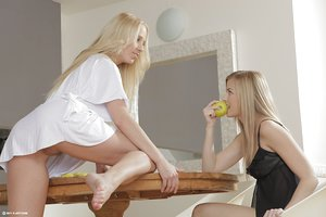 Beautiful damsels turn their shared roommate situation into a lesbian experience