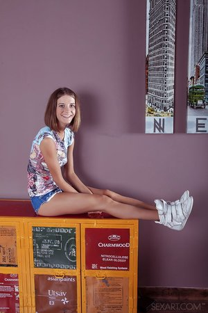 Long legged teen girl Talinka A has sexual relations with her stepbrother