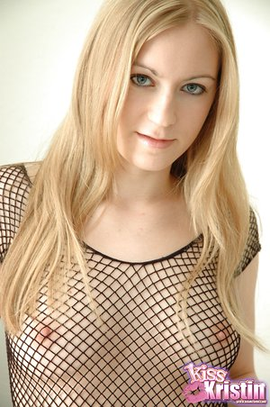 Blonde inexperienced Kristin removes sheer dress to demonstrate perfect puny tits