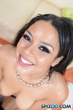 Small Latina cutie Maya Bijou sucks dick and gets banged in awesome POV pics