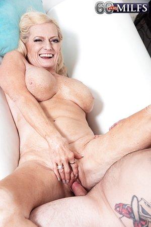 Naughty blonde granny Layla Rose seduces her grandson's best acquaintance
