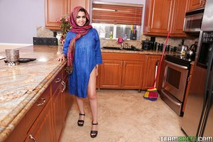 Lustful young hottie Ada Sanchez strips to show her flawless curvy body