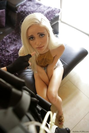 Petite young girl Naomi Woods dripping jism from cunt after forced fucking
