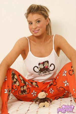 Hot girlfriend shes her pajamas to taunt in white g-string with big bra-stuffers covered