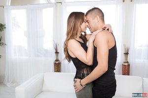 Cute Dutch teen Taylor Sands engages in anal play with her boyfriend