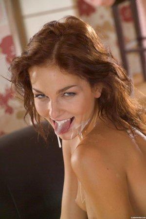 Hot slut in short skirt gets her hot ass drilled & takes a facial cumshot