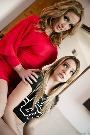 Heartbroken teen Kenna James turns to lesbian sex with stepmom Angela Sommers