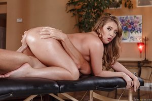 White female Harley Jade gets smashed by her masseur after feeling horny