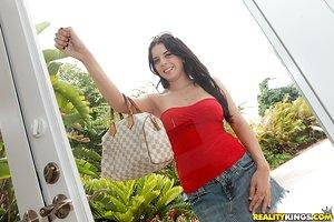 Large melons and tight ass make teen Kodi Gamble perfect outdoor model