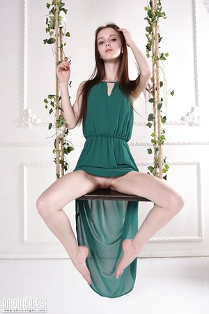 Beautiful lean Lapa flashes naked upskirt and strips to show her thin body