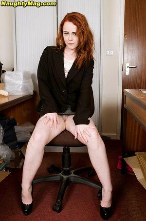 Amateur redhead Ella Hughes fantastic dildo play in romantic solo scenes