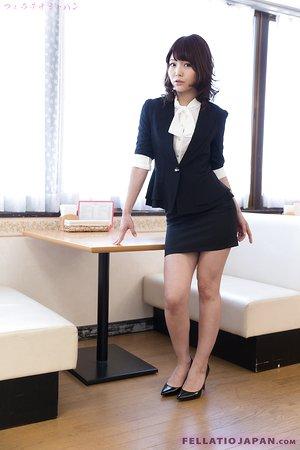 Cute Japanese teen schoolgirl in uniform licks beef whistle in arousing POV blowjob