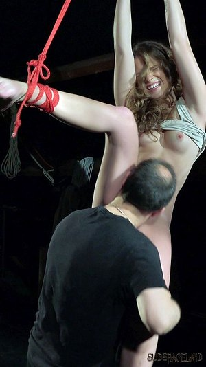 Innocent teen girl endures corporal penalty at the hands of her Master