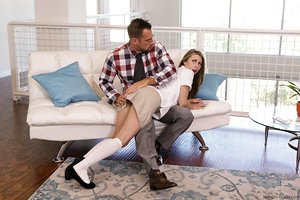 Horny Anya Olsen gets punished and fucked hard by her stepdad Johnny Castle