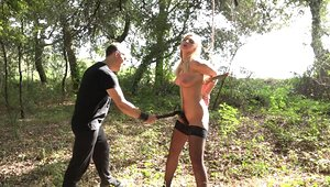 Blonde agony slut endures all the agony her captor can inflict upon her
