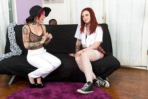 Kinky schoolgirl in stockings Chloe Carter got plowed by a muscle ebony guy